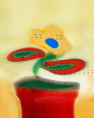 Digital Art - Abstract Floral Art 85 by Miss Pet Sitter