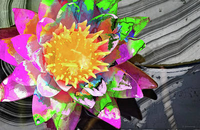 Painting - Abstract Floral Art - Wild Lotus Flower - Sharon Cummings by Sharon Cummings