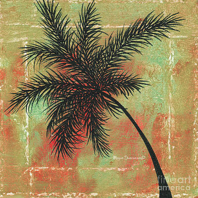 Fauna Painting - Abstract Floral Fauna Palm Tree Leaf Tropical Palm Splash Abstract Art By Megan Duncanson  by Megan Duncanson