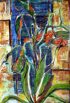 Lily Mixed Media - Abstract Floral by Mindy Newman