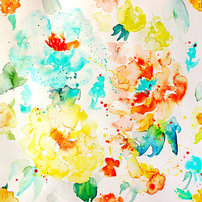 Painting - Abstract Floral Pattern 05 by Aloke Creative Store