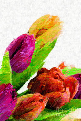 Mixed Media - Abstract Flower 0722 by Rafael Salazar