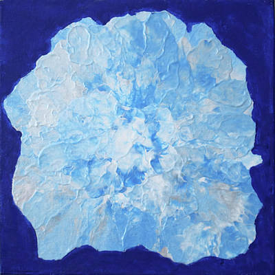 Painting - Abstract Flower In Blue by Deborah Boyd