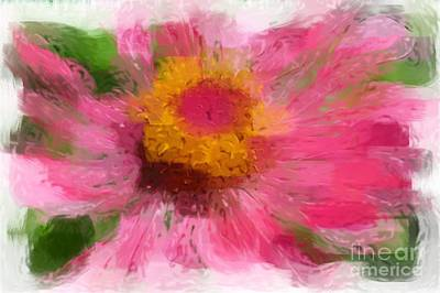 Abstract Flower Expressions Art Print