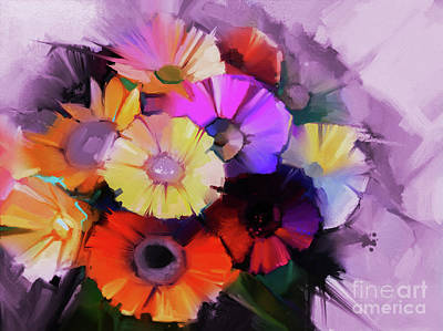 Abstract Flower Painting 8012 Original by Gull G