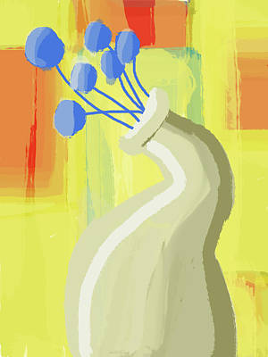 Digital Art - Abstract Flower Vase 2 by Keshava Shukla