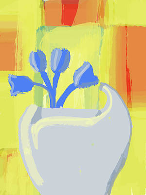 Digital Art - Abstract Flower Vase by Keshava Shukla