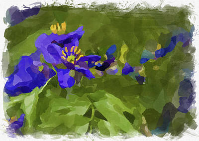 Photograph - Abstract Flower Watercolor by Ricky Barnard