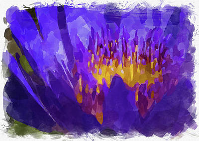 Photograph - Abstract Flower Watercolor Vii by Ricky Barnard