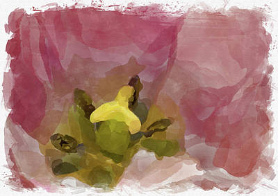 Photograph - Abstract Flower Watercolor Xii by Ricky Barnard