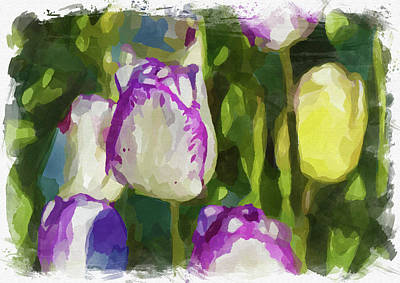 Photograph - Abstract Flower Watercolor Xiv by Ricky Barnard