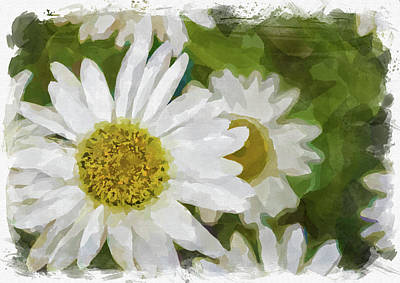 Photograph - Abstract Flower Watercolor Xix by Ricky Barnard