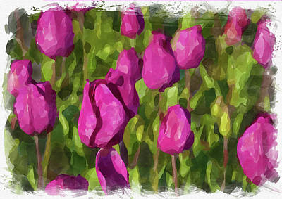 Photograph - Abstract Flower Watercolor Xv by Ricky Barnard
