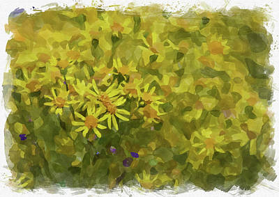Photograph - Abstract Flower Watercolor Xvi by Ricky Barnard
