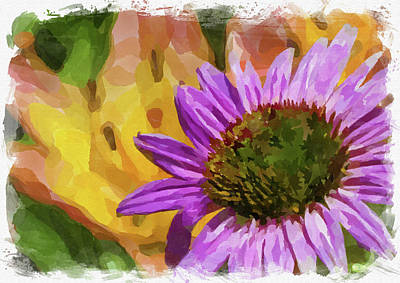 Photograph - Abstract Flower Watercolor Xviii by Ricky Barnard