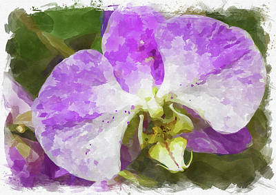 Photograph - Abstract Flower Watercolor Xxi by Ricky Barnard