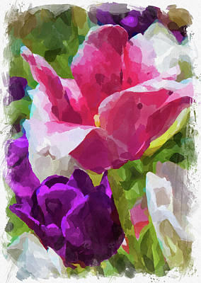 Photograph - Abstract Flower Watercolor Xxv by Ricky Barnard