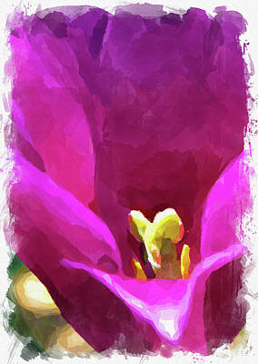 Royalty-Free and Rights-Managed Images - Abstract Flower Watercolor XXVI by Ricky Barnard