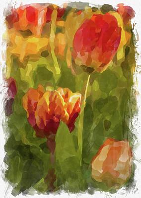 Photograph - Abstract Flower Watercolor Xxviii by Ricky Barnard