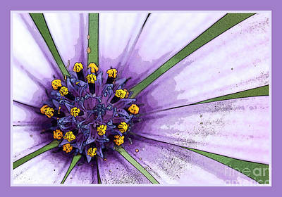 Digital Art - Abstract Flower by Wendy Wilton