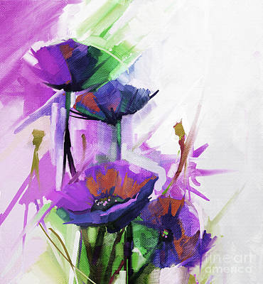Abstract Flowers 0043 Original