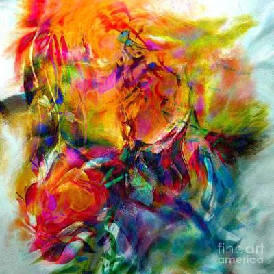 Wine Reflection Art Digital Art - Abstract Flowers by Alexandr Az