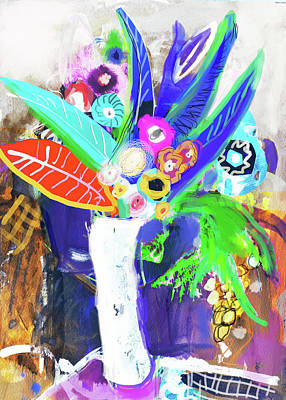 Painting - Abstract Flowers by Amara Dacer