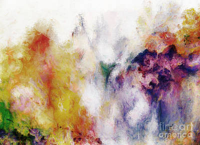 Wall Art - Digital Art - Abstract Flowers  by Claire Bull