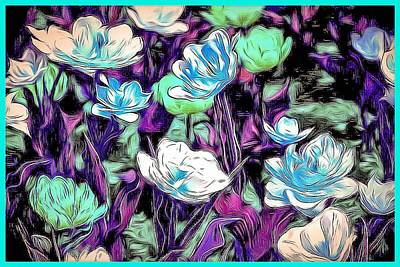 Digital Art - Abstract Flowers  by Don Wright