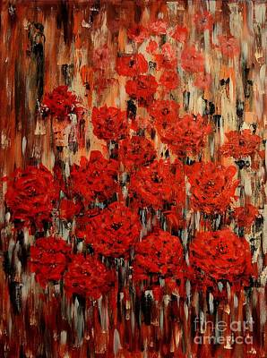 Painting - Abstract Flowers by Greg Moores