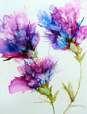 Wall Art - Mixed Media - Abstract Flowers by Linda Bartlett