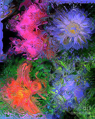 Photograph - Abstract Flowers by Merton Allen