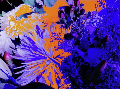 Abstract Flowers Of Light Series #1 Art Print