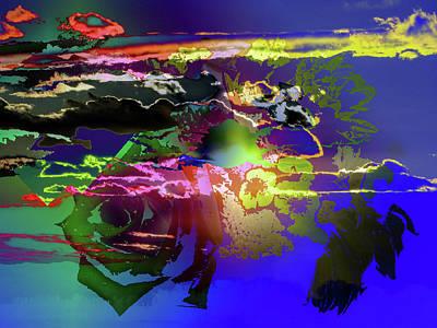 Abstract Flowers Of Light Series #11 Art Print