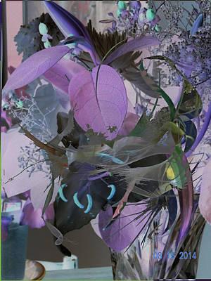 Abstract Flowers Of Light Series #12 Art Print