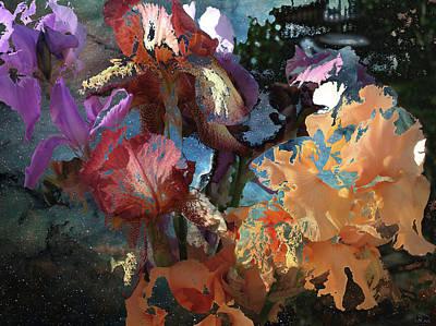 Abstract Flowers Of Light Series #15 Art Print