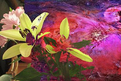 Abstract Flowers Of Light Series #16 Art Print