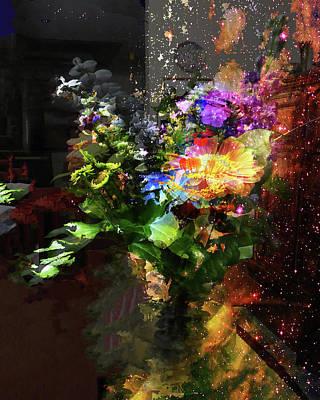 Abstract Flowers Of Light Series #17 Art Print