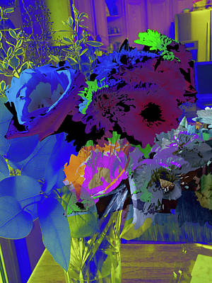 Abstract Flowers Of Light Series #18 Art Print