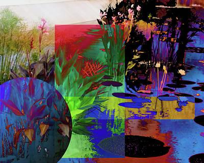 Abstract Flowers Of Light Series #19 Art Print