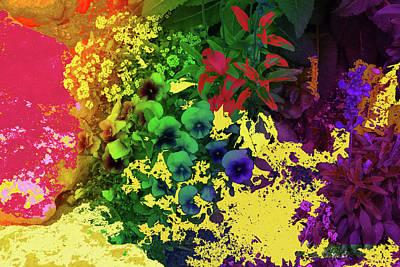 Abstract Flowers Of Light Series #2 Art Print