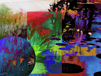 Abstract Flowers Of Light Series #21 Art Print