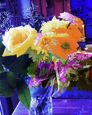 Abstract Flowers Of Light Series #7 Art Print