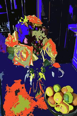 Abstract Flowers Of Light Series #8 Art Print