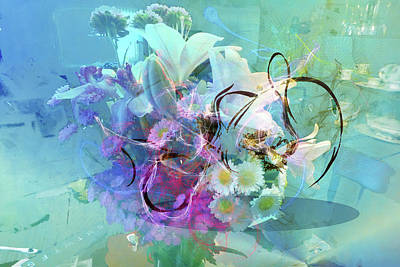 Abstract Flowers Of Light Series #9 Art Print