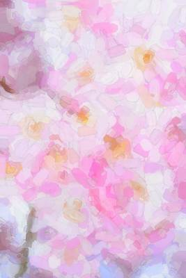 Springflowers Digital Art - Abstract Flowers  by Tommytechno Sweden