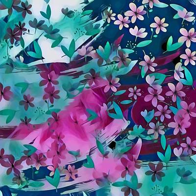 Mixed Media - Abstract Flowes Design by Gabriella Weninger - David