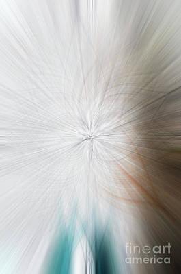 Photograph - Abstract Fog Swinging Bridge by Tamara Becker