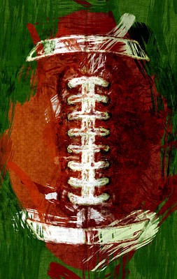 Football Royalty-Free and Rights-Managed Images - Abstract Football by David G Paul