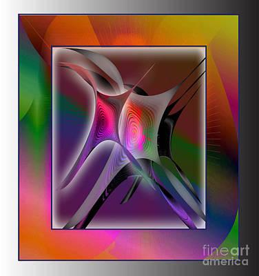 Digital Art - Abstract Forms 2 by Iris Gelbart